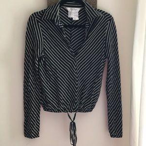Silk Max Mara Button Sown Blouse Size 4